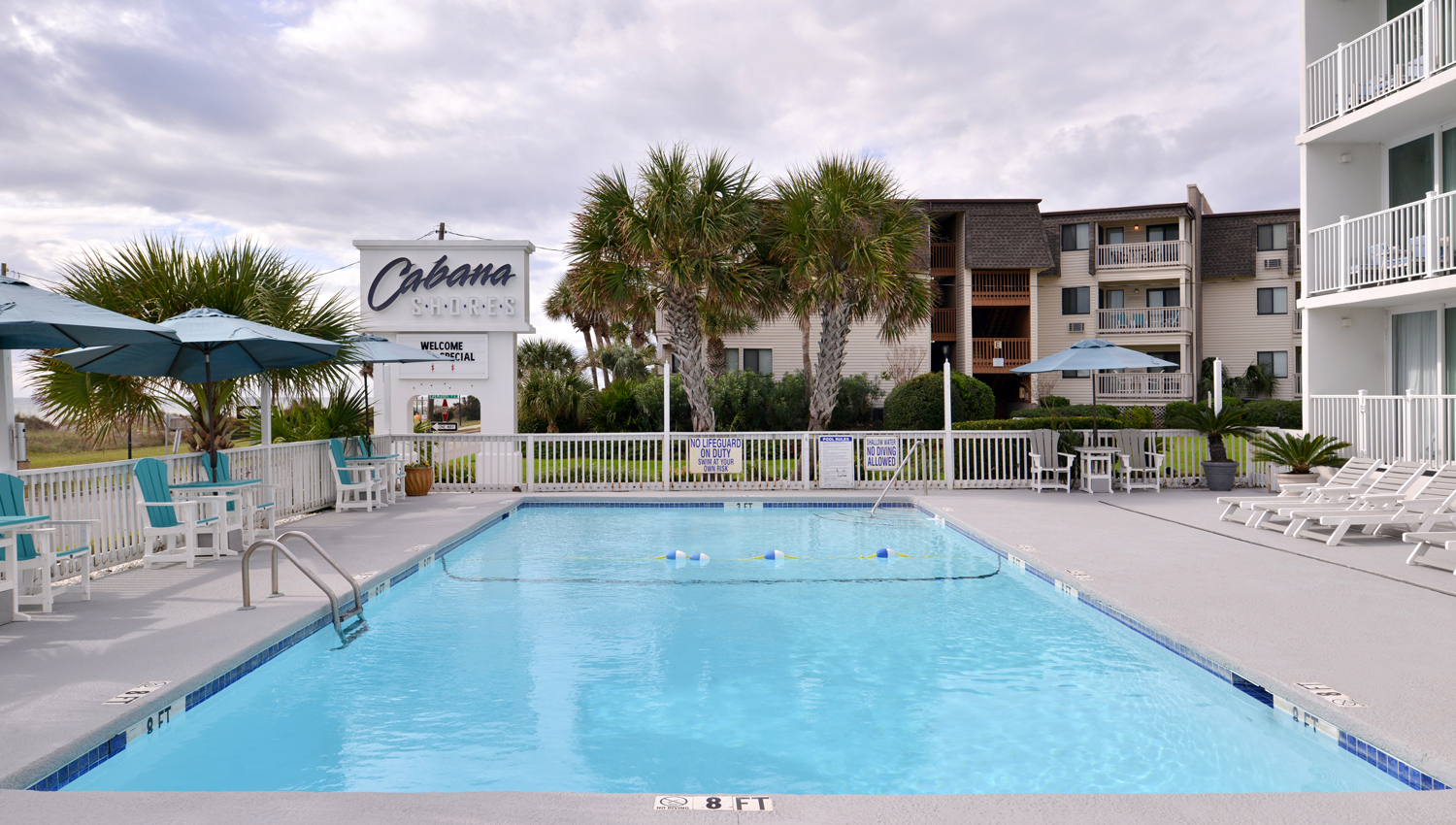CABANA SHORES OFFERS OUTDOOR POOL FOR GUEST COMFORT IN MYRTLE BEACH