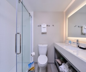 Newly remodelled contemporary bathrooms